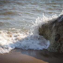 Embrace by Renato Marques - Landscapes Beaches ( wave, stone, sea, embrace, rock, beach )
