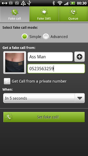 boom-fake-call-and-sms for android screenshot