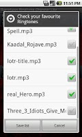 Screenshot of TA Ringtone Changer
