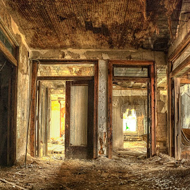 Abandoned Twins by Brian Rome - Buildings & Architecture Decaying & Abandoned ( michigan, urban exploration, urbex, tagged, detroit, usa, deserted, abandoned )