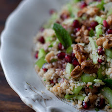 Bulgur, Celery and Pomegranate Salad