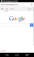 Screenshot of WebView Developer Browser