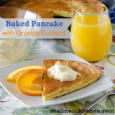 Baked Pancake with Orange Custard and Giveaway