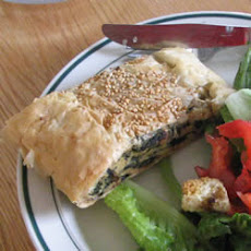 Mushroom, Spinach and Cheese Torta