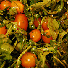 Cherry Tomatoes and Olive Salad