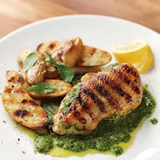Grilled Chicken with Arugula Pesto