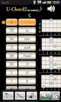 Screenshot of UChord2 (Ukulele Chord Finder)