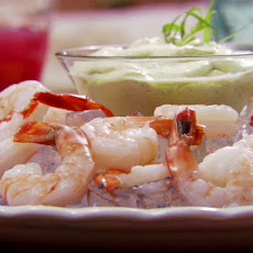 Shrimp with Green Goddess Sauce