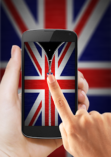 UK Flag Zipper Lock APK for Bluestacks
