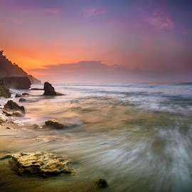 Will be back by Mulyadi AM - Landscapes Beaches ( orange, beach, sunrise )