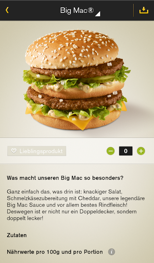 McDonald's Deutschland Screenshot 1
