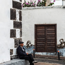 Waiting For The Day To Begin by Jay Gould - People Street & Candids ( canary islands, color, tenerife, man, street photography )