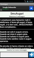 Screenshot of SmsAuguri, Auguri di ogni tipo