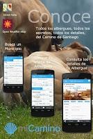 Screenshot of my Camino de Santiago Mobile