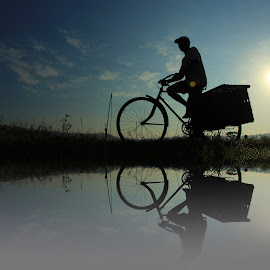 bike farmers by Mh Gandung - Transportation Bicycles ( water, #bike #bicycle, man )