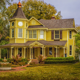 The Yellow Mansion by James Kirk - Buildings & Architecture Homes ( old, mansion, house, yellow, historic )
