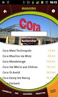 Screenshot of Cora Cafétéria