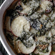 Spinach and Potatoes Au Gratin