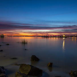 ICW sunset by Jason Green - Landscapes Waterscapes ( staugustine, oldtown, 904, vilano, beach )