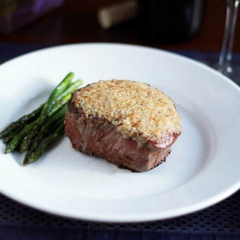 Parmesan Horseradish Crusted Steak