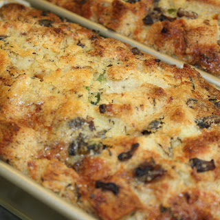 Smoky Mushroom Bread Pudding with Wisconsin Cheese