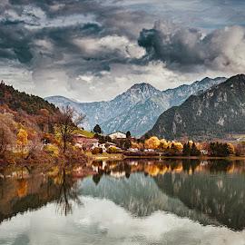 Dark Mood by Andrea Pollini - Landscapes Mountains & Hills ( clouds, idro, dark, lake, landscape,  )