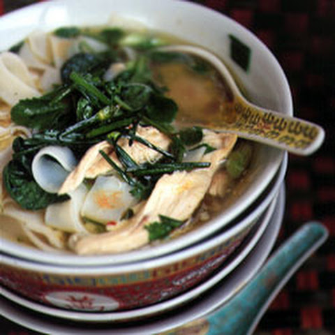 Hanoi Noodle Soup with Chicken, Baby Tatsoi, and Bok Choy