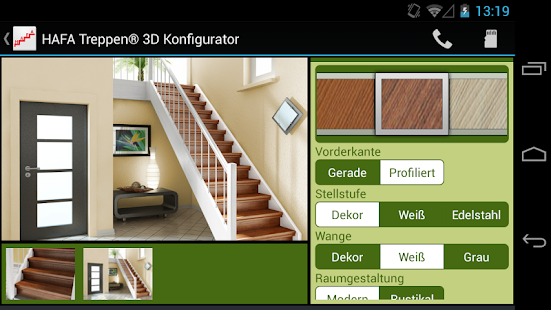 HAFA 3D Konfigurator - screenshot