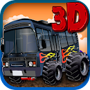 3D Monster Bus Simulator 2015 icon