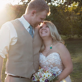 by Leann Smith - Wedding Bride & Groom ( triple js photography, wedding, bride and groom, country diy wedding )