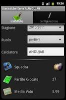 Screenshot of Statistics Serie A Magic
