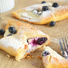 Blueberry & Honey Cream Croissants