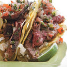 Grilled Cola Skirt Steak Salsa Tacos