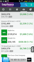 Screenshot of DailyFinance – Stocks & News