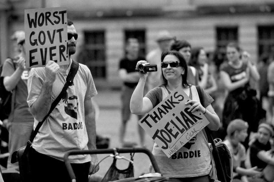 Worst Govt Ever by Andrew Rock - News & Events Politics ( film, minolta x-700, australia, protest, kodak tri-x 400,  )