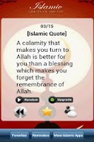Screenshot of Islamic Quote of the Day