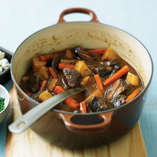 Smoky Beef Stew with Blue Cheese and Chives