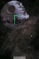 Screenshot of Death Star Clock