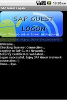 Screenshot of SAP Guest Logon