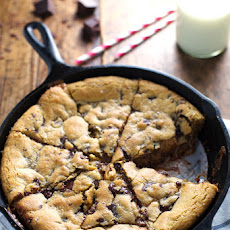Deep Dish Chocolate Chip Cookie with Caramel and Sea Salt