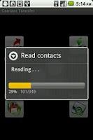 Screenshot of Contact Transfer