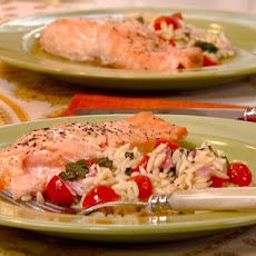 Mustard-Glazed Salmon Salad with Light Buttermilk Dressing