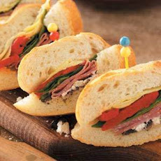 Antipasto-Stuffed Baguettes