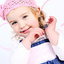 little girl by Aretha De Jager Botha - Babies & Children Toddlers ( girl, blue, wings, pink, smile,  )