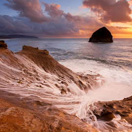 Cape Kiwanda by Christian Flores-Muñoz - Landscapes Waterscapes ( cape kiwanda, sunset, pacific city, half bowl, pacific northwest )
