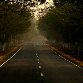 Highway of Life by Arnab Bhattacharyya - Landscapes Travel