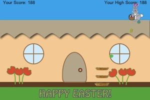 Screenshot of Bunny's Easter Egg Hop 'N Drop