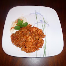 Maftoul With Chicken - Middle Eastern (Israeli Cous Cous)