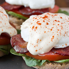 Lighter Eggs Benedict with Mock Hollandaise