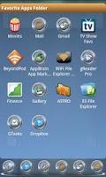 Screenshot of Metal Buttons:Blue ADW Theme